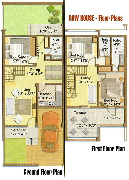 Charleston Row House (HWBDO68300) | Cape Cod House Plan from