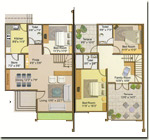 Twin Bungalow Floor Plan